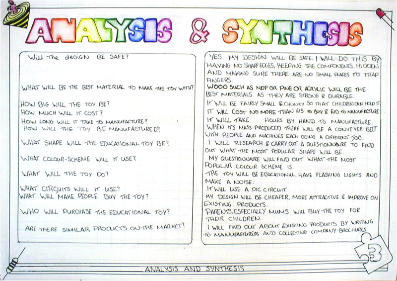 define synthesis essay
