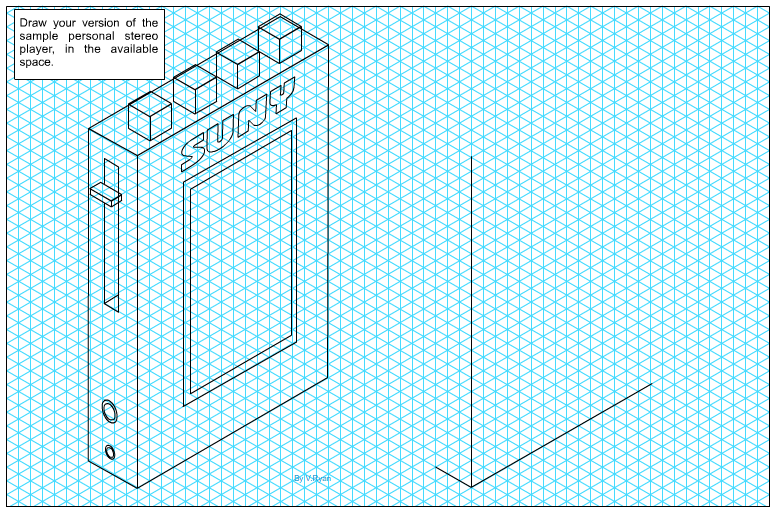 isometric grid paper or consider drawing your version on blank paperIsometric Design Paper