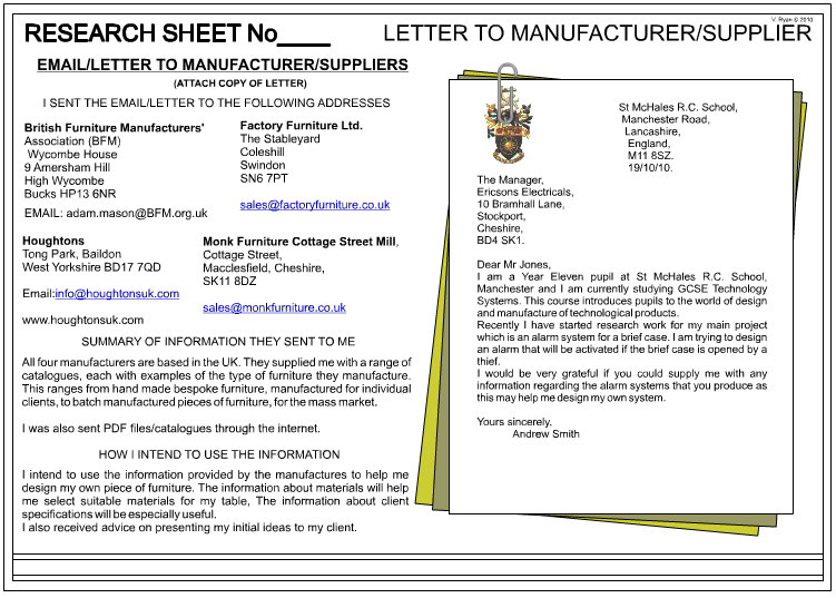 End A Business Letter from technologystudent.com
