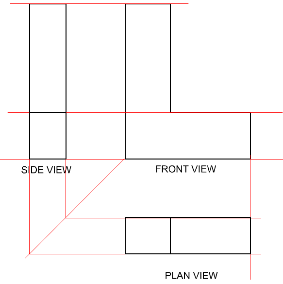 First Angle Orthographic Projection In Eg Kpr Blog