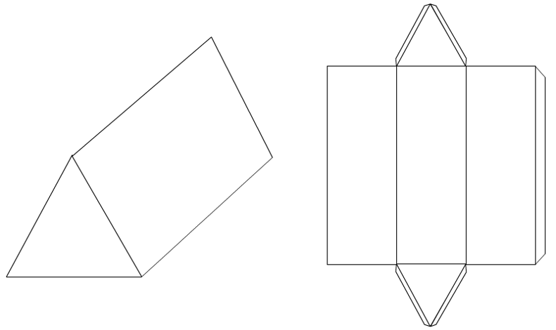 graphic relating to Triangular Prism Net Printable known as Enhancements / Nets - Triangulation