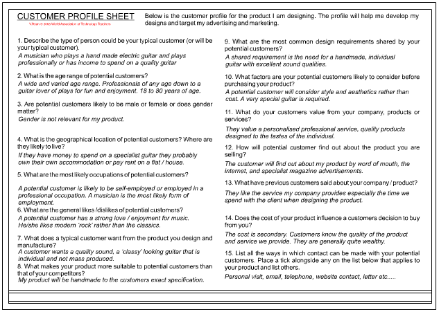 Buiding a Customer Profile - Page 2