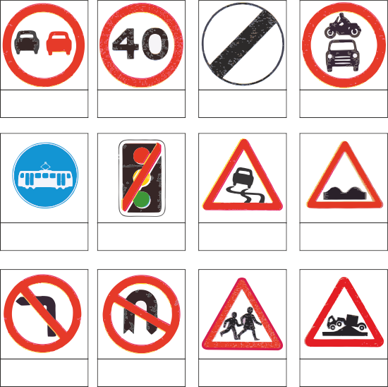 The Highway Code What Do The Symbols Mean