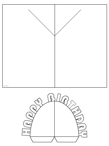 cut out the pop up and glue it to the 90 degree lines test the final prototype and write an evaluation on how it works include any improvements you would - Happy Birthday Pop Up Card
