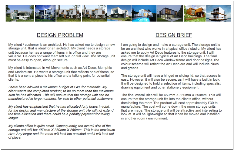 The design brief for Office design brief template