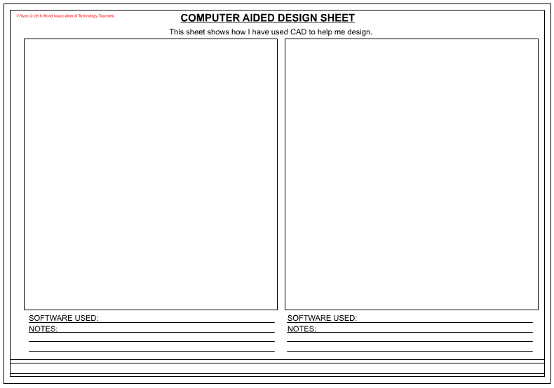 computer aided design presentation sheets