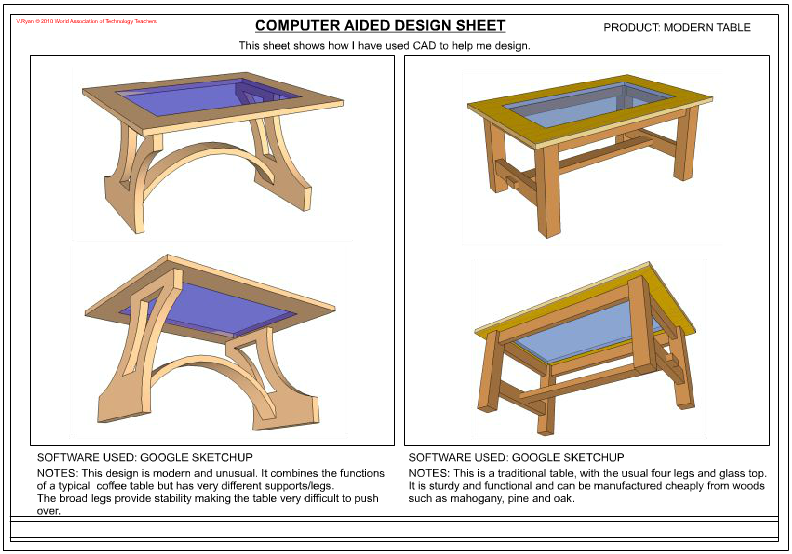 Computer aided design presentation sheets for Design table not working solidworks