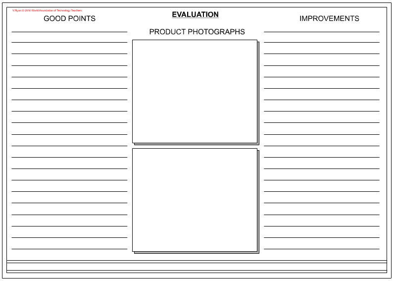 Writing an Evaluation – Product Evaluation Template