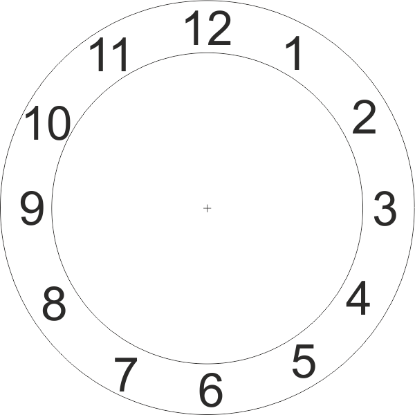 learning clock - clock face design