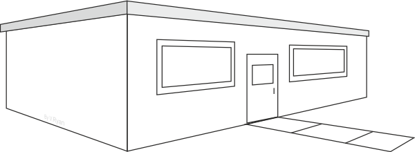 Flat roof house drawing images for Flat roof plan drawing