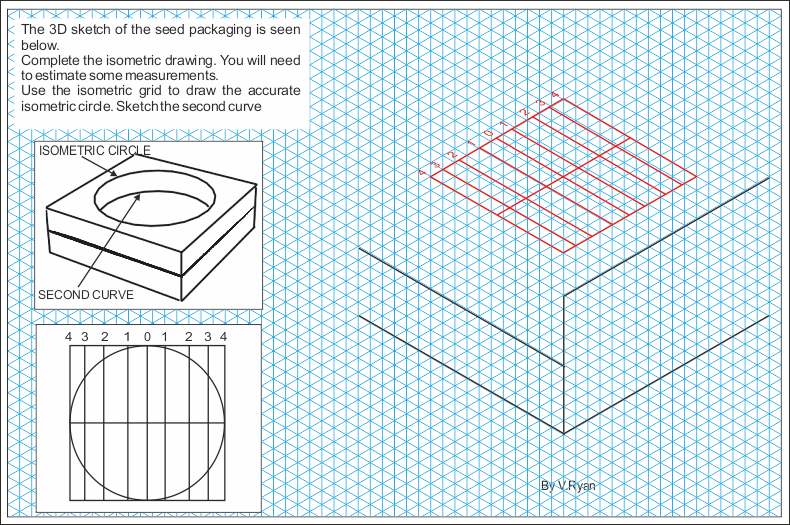 PACKAGING IN ISOMETRIC BASIC QUESTION – Isometric Drawing Worksheet