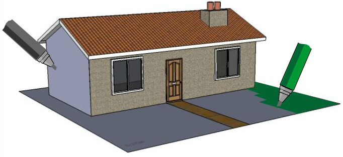 House 2 - Two Point Perspective