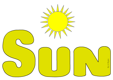 word with sun graphic representation of words and themes 2
