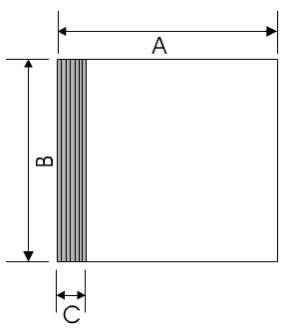 opposite is a typical cd case  measure the a, b and c dimensions ( measurements), in millimetres  write them alongside the picture