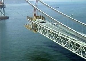 Akashi Kaikyo Bridge Construction