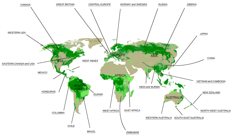 natural regions of the world
