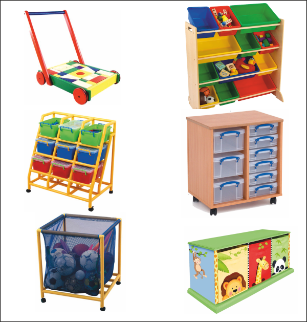 Examination Question Mobile Toy Storage Unit