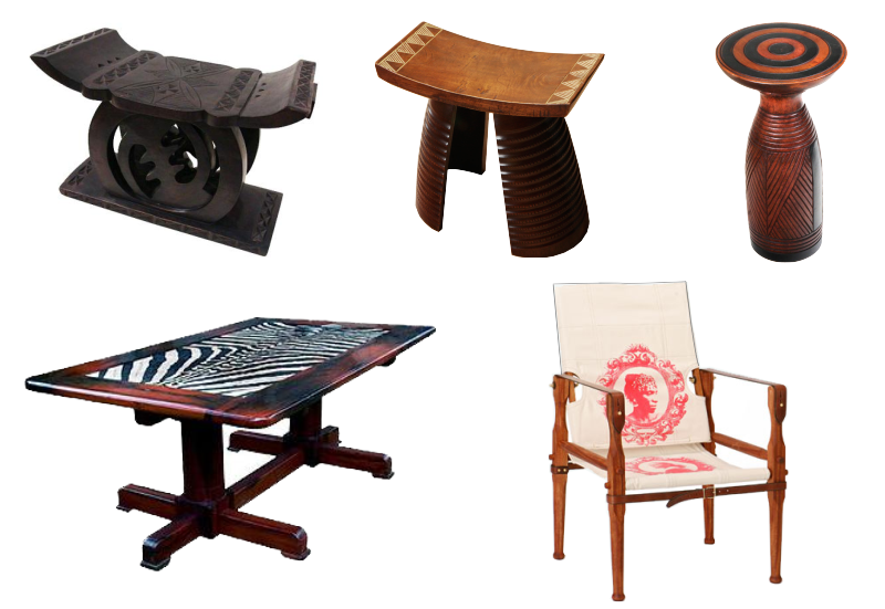 SAMPLES OF AFRICAN INSPIRED FURNITURE