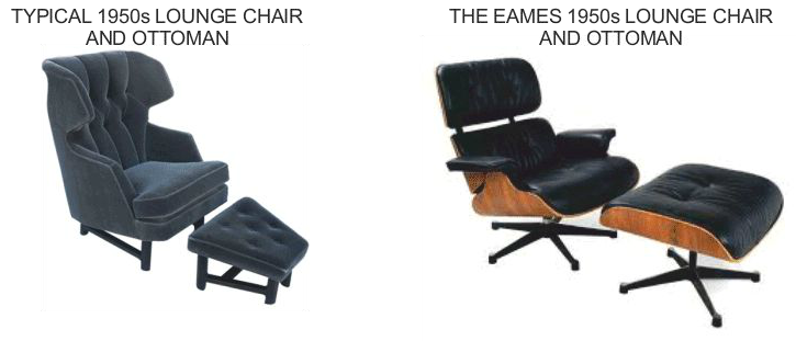 Why is the eames lounge chair an iconic design for Chair design criteria