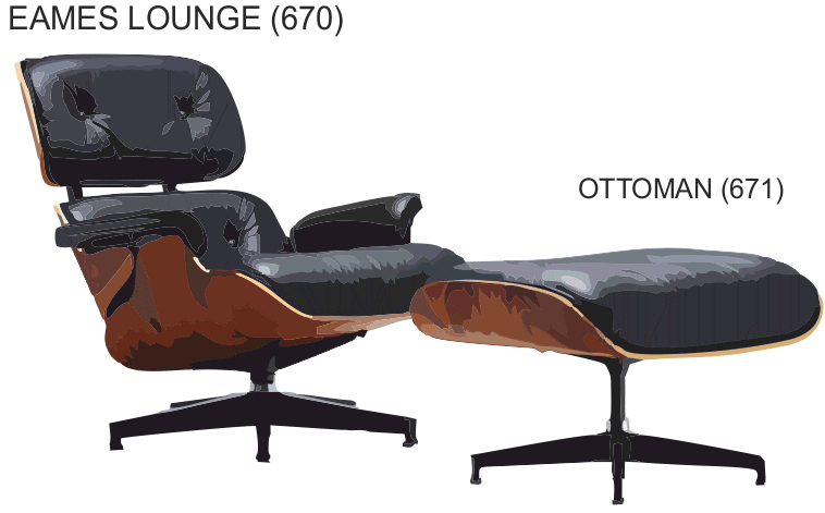 sc 1 st  Technology Student & THE EAMES CHAIR AND OTTOMAN - ERGONOMICS AND ANTHROPOMETRICS