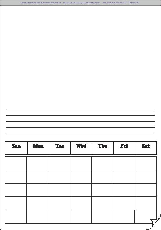 safety calendar template