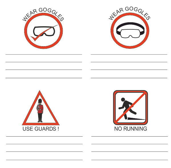 Safety Symbols Exercise