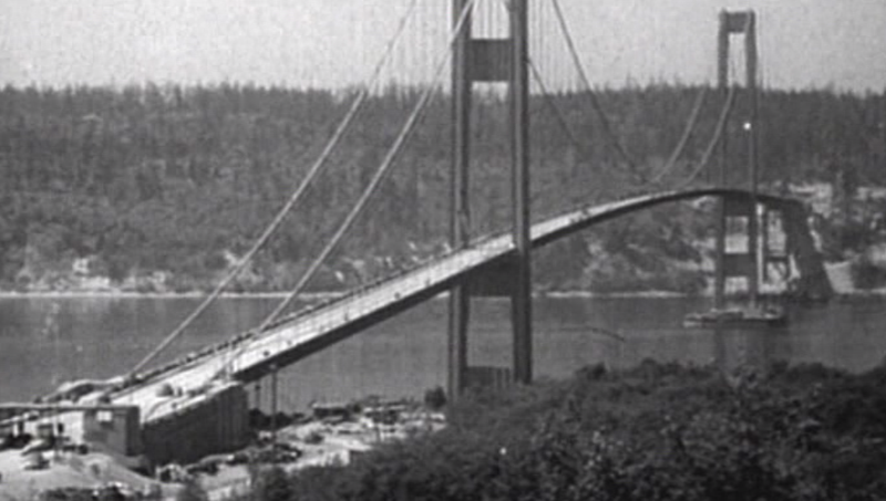Image result for the middle section of the tacoma narrows bridge collapse